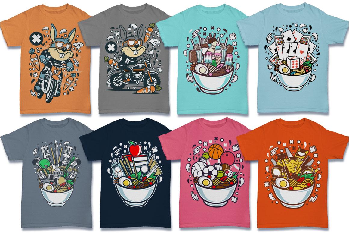 Cartoon Vector #6 Tshirt Design Bundle example image 19
