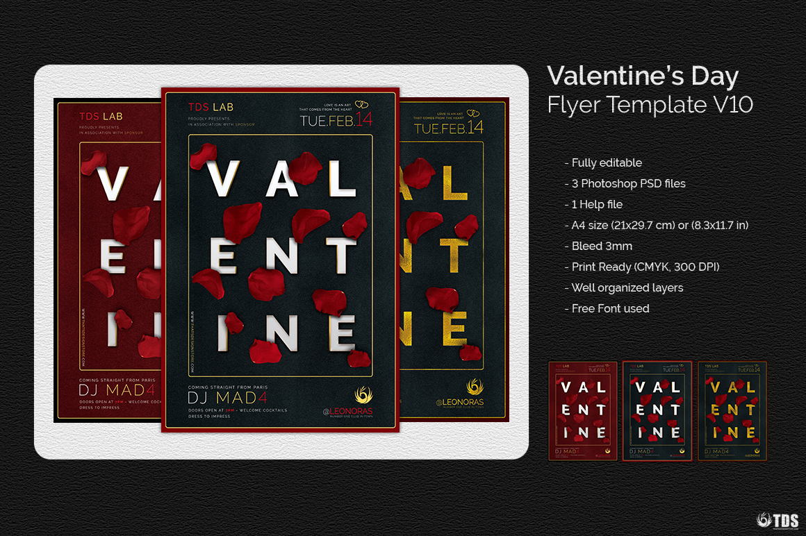 Valentines Day Flyer Template V10 example image 8