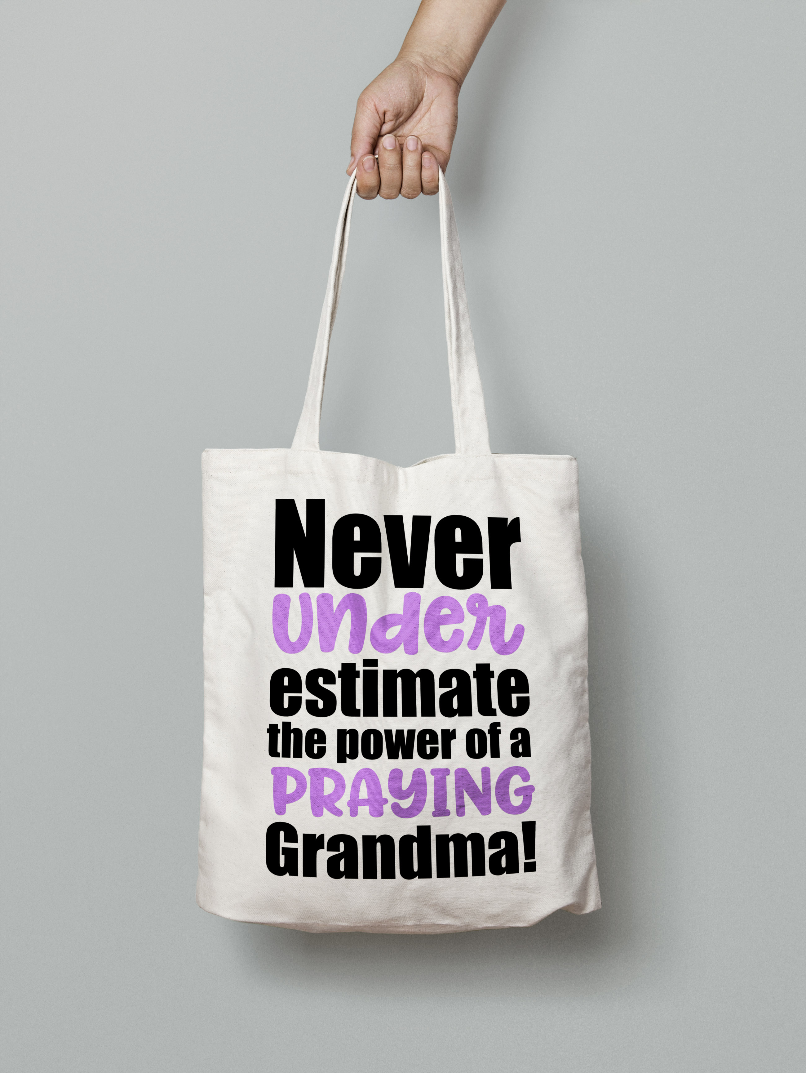 Never underestimate the power of a praying grandma svg example image 4