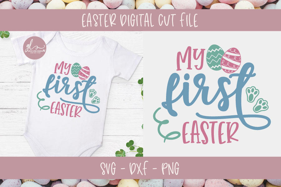 My First Easter - Easter SVG Cut File example image 1
