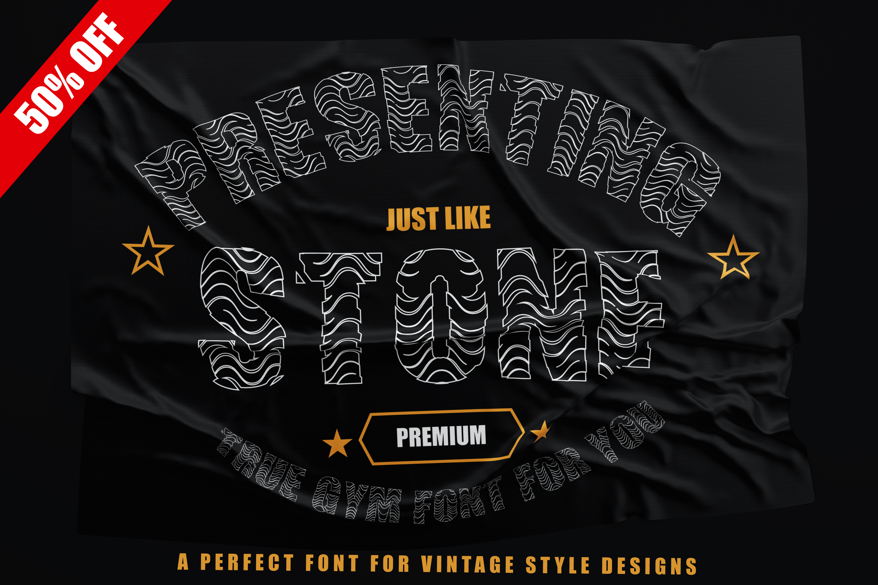 Just Like Stone - Creative Vintage Font for Designs example image 1