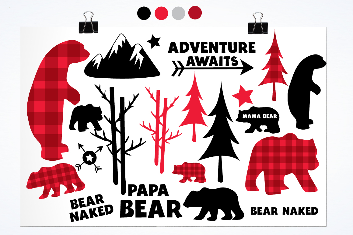 Bear Cabin graphics and illustrations example image 2