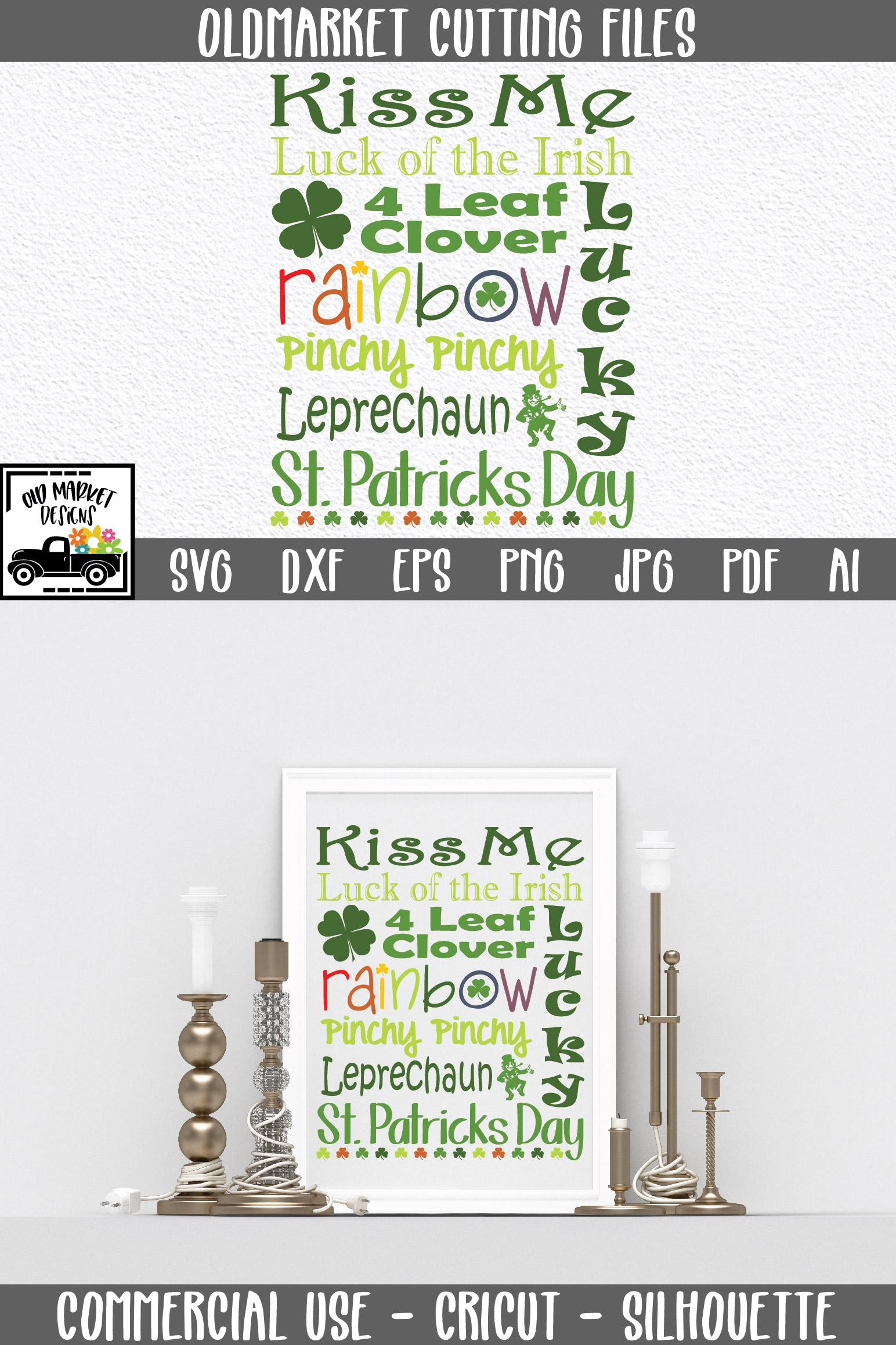 St Patricks Day Subway Art SVG Cut File example image 8