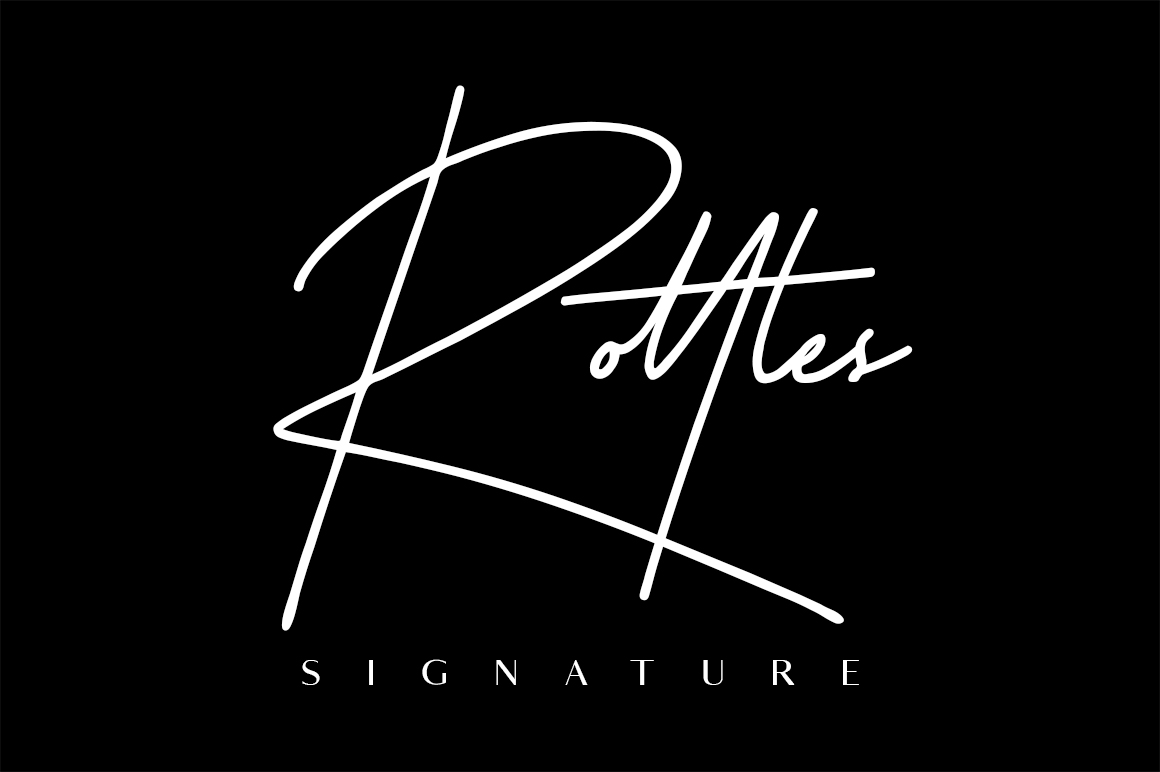 Rottles Signature Font example image 1