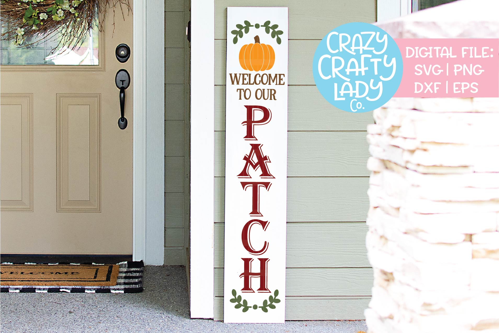 Holiday Porch Sign SVG DXF EPS PNG Cut File Bundle example image 3