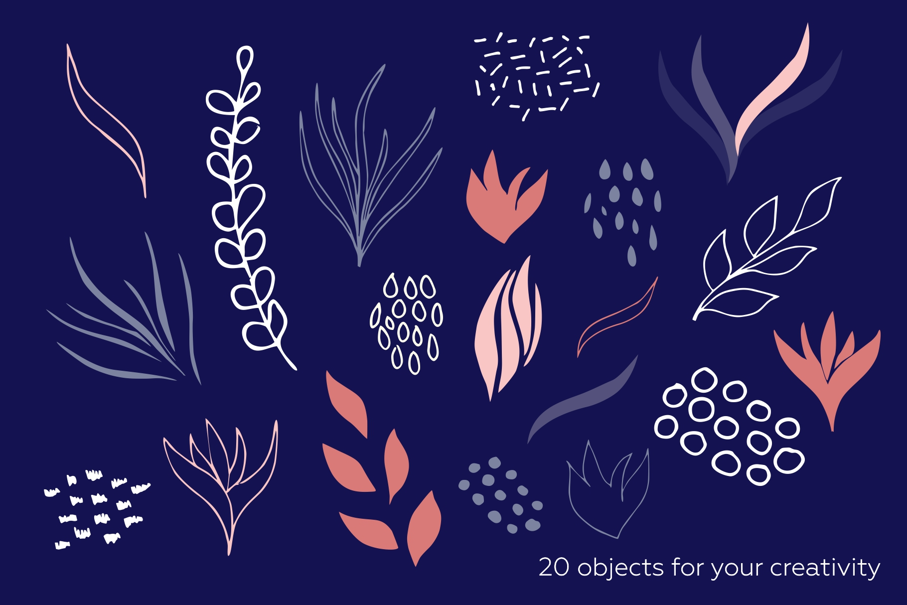 Botanicum. Modern and abstract pattern set. example image 12