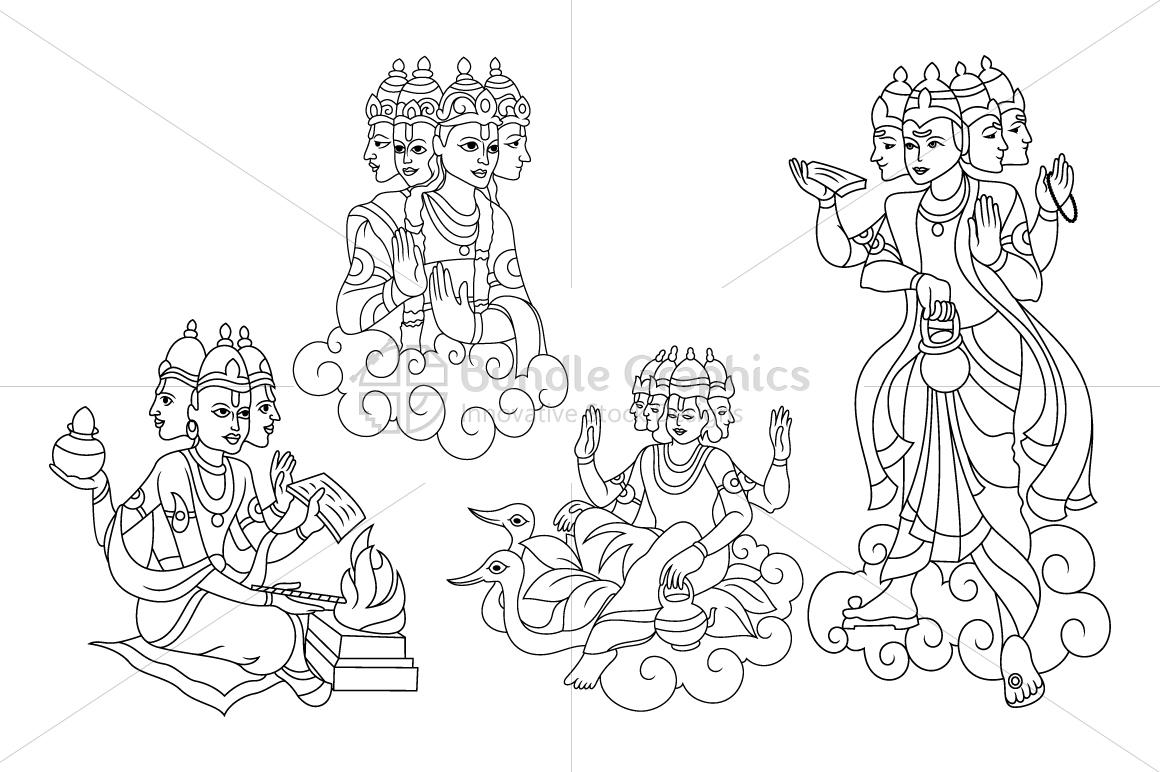 Lord Brahma - Illustrations example image 1