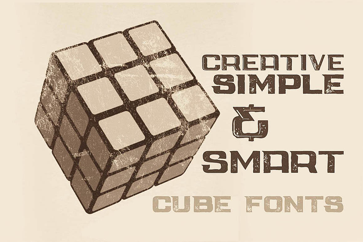 Cube - Display Font example image 2