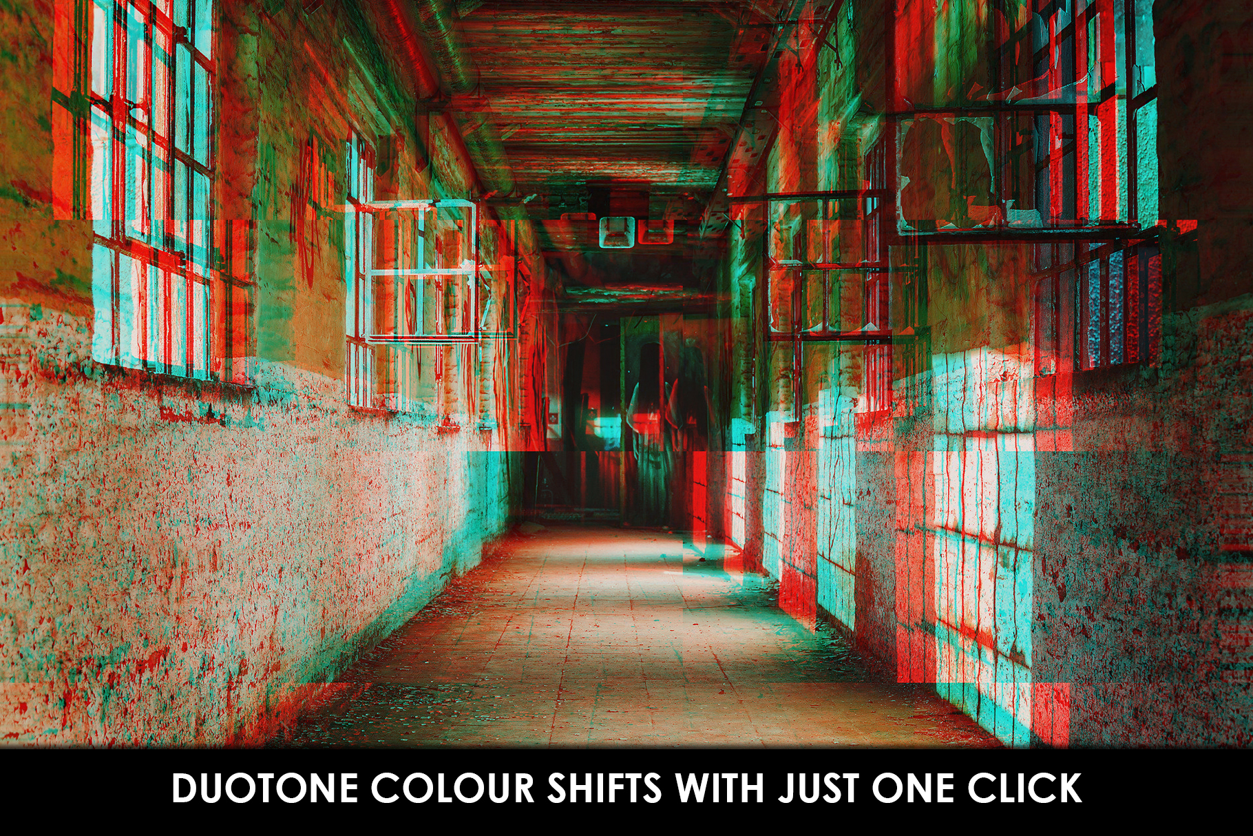 Glitch Effect Photoshop Actions example image 3