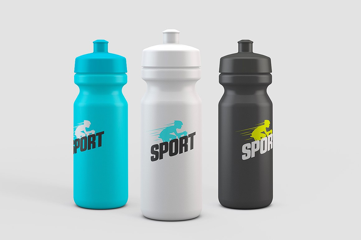 Sport Water Bottle Mock-Up example image 1