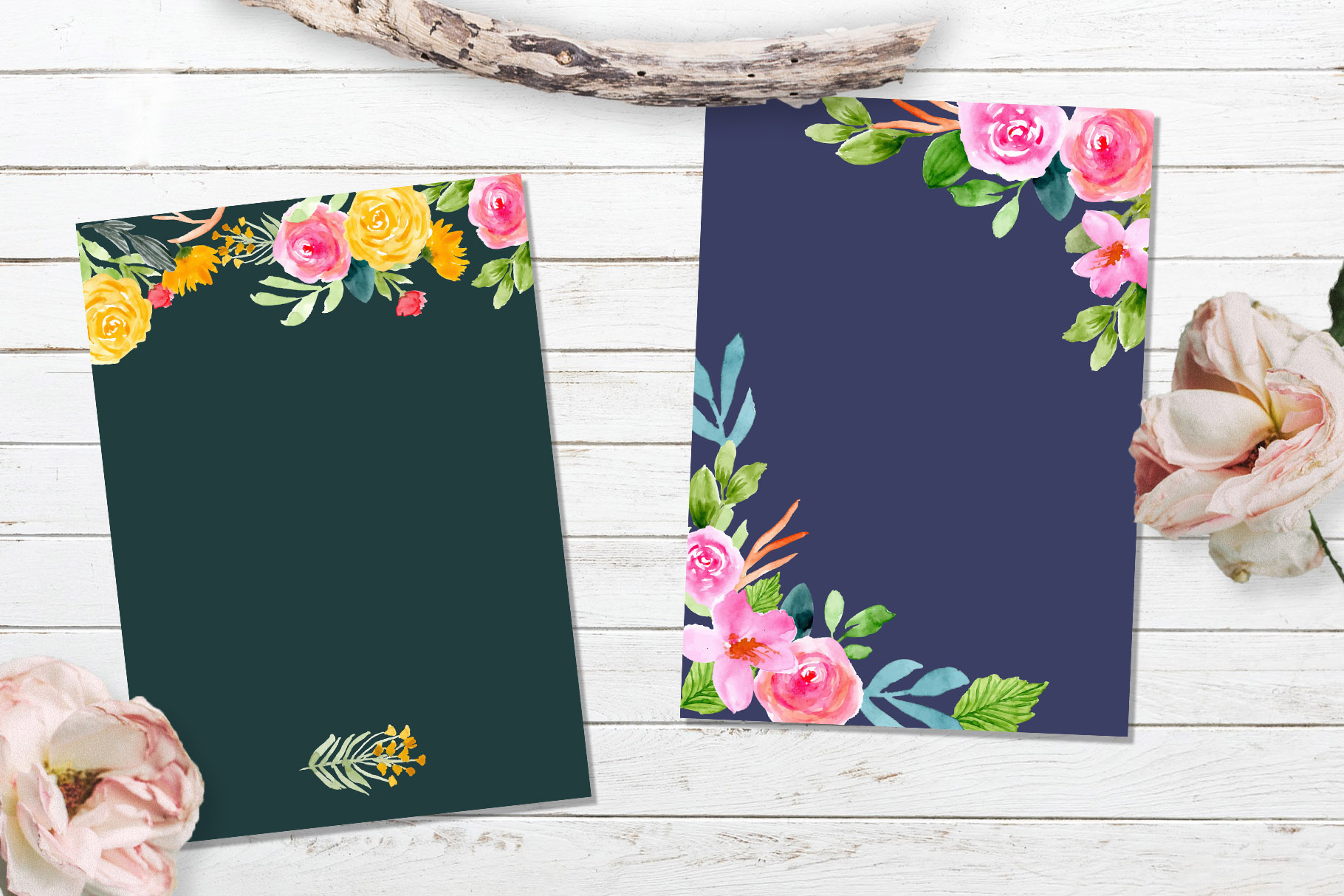 Floral Invitation Backgrounds Vol.3 example image 5