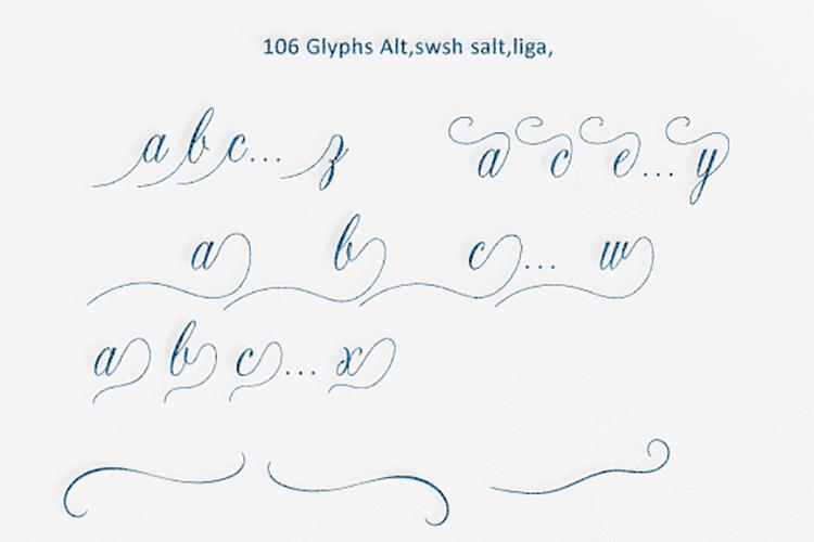 Opulent Script example image 6