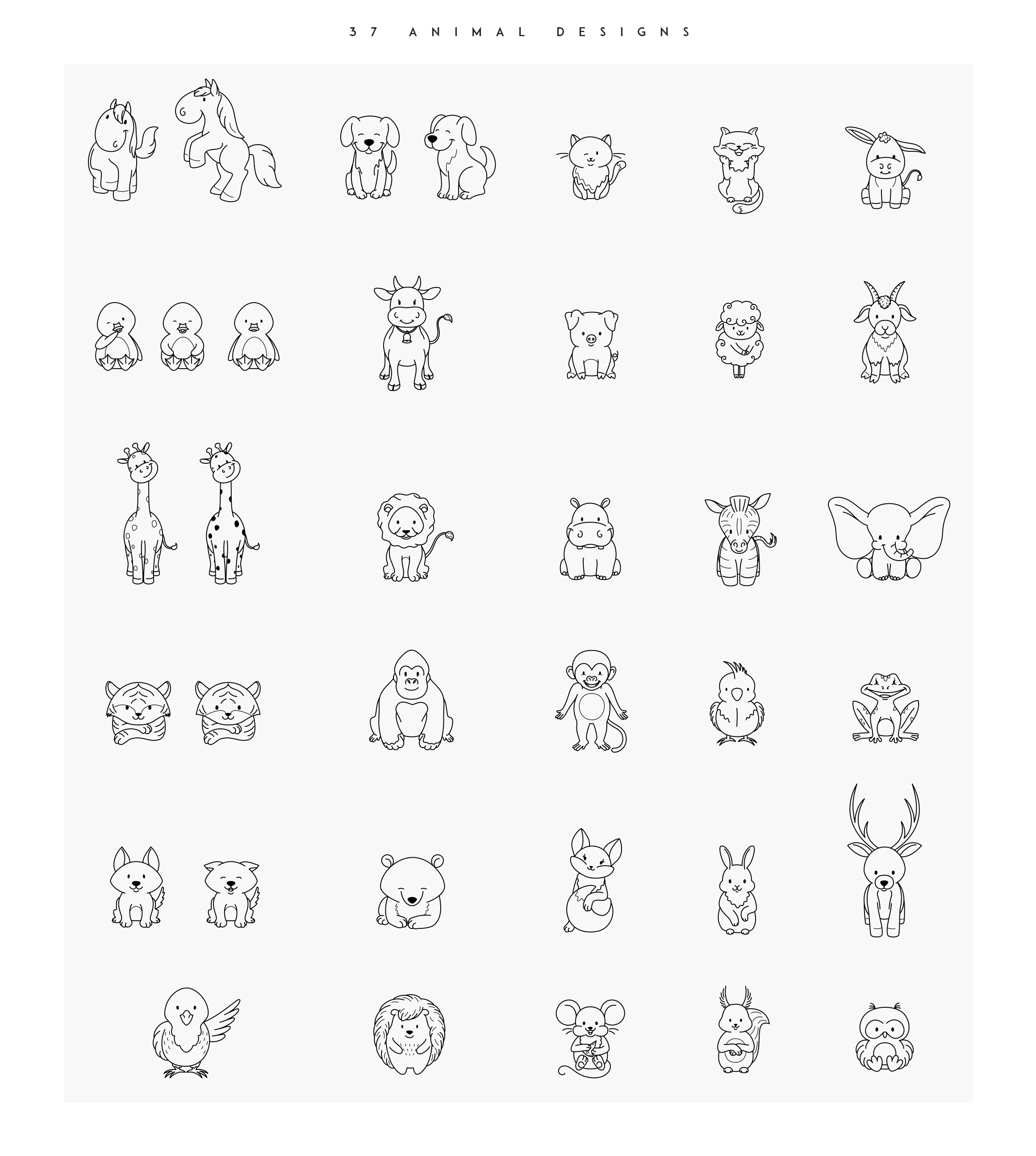 Cute Animals Collection example image 8