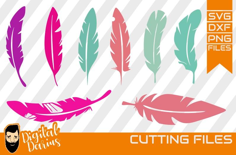 8x Feather Bundle Svg, Birds svg, Digital Download, Circuit example image 1