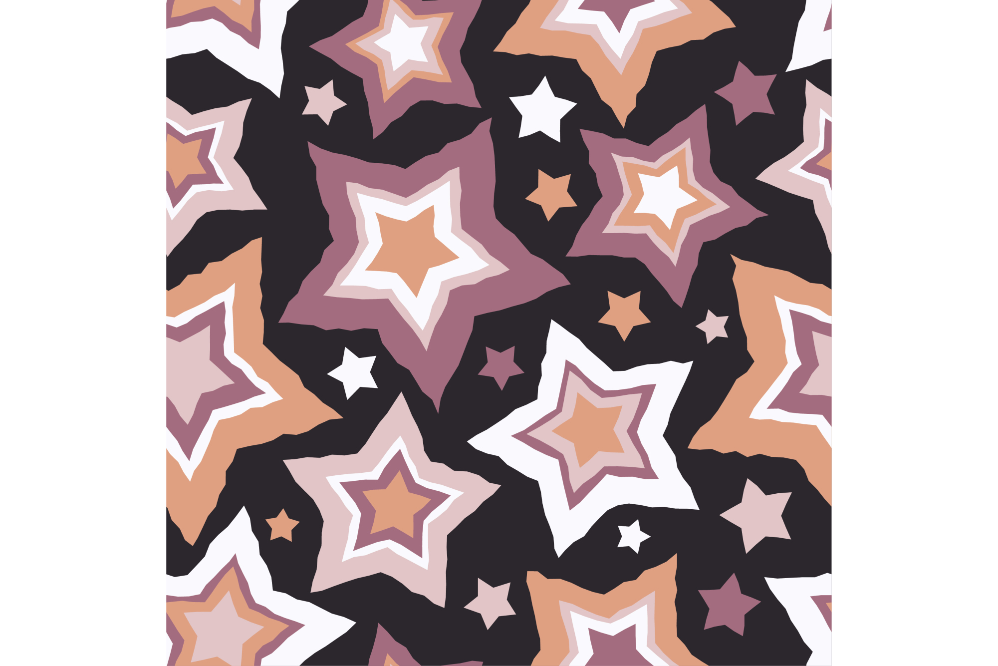 Set of 12 seamless vector backgrounds with decorative stars.  example image 7