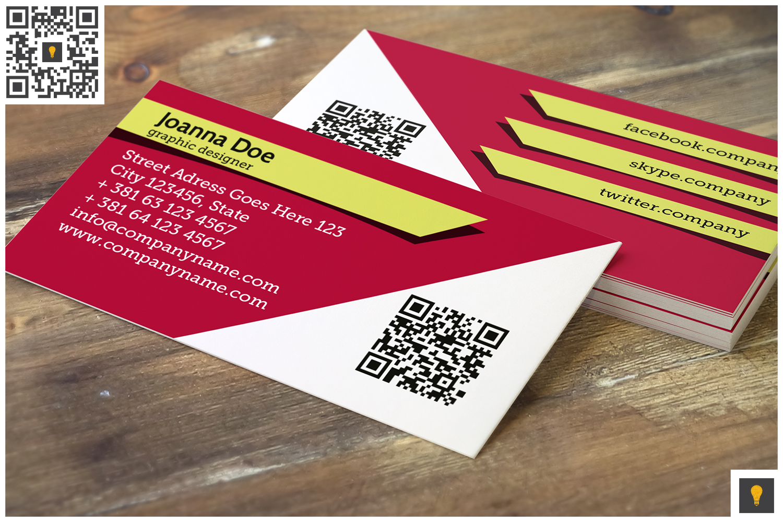 Stripe Modern Business Card Pink