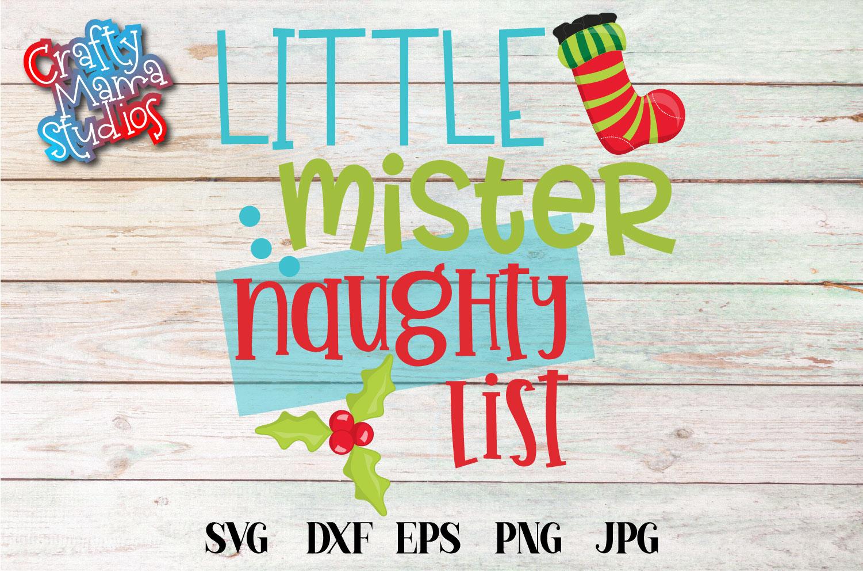 Naughty List SVG Bundle, Santa's Naughty List, Christmas example image 5