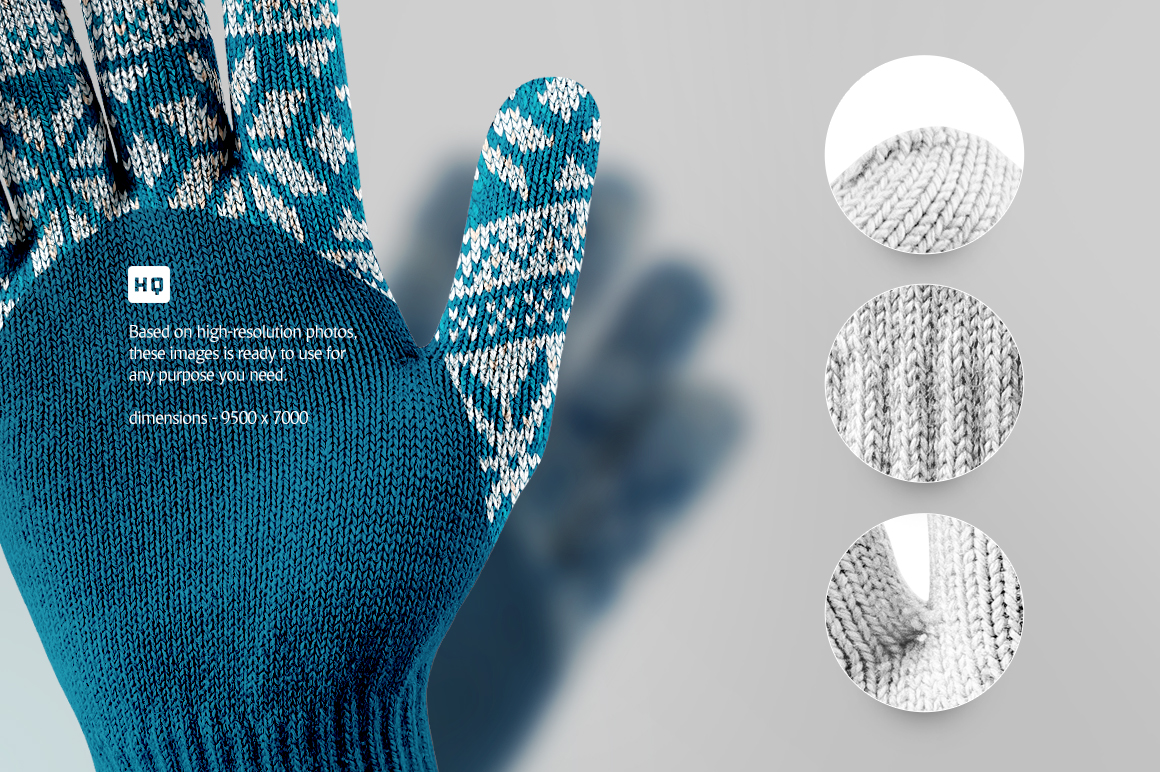 Winter Gloves Mockup example image 3
