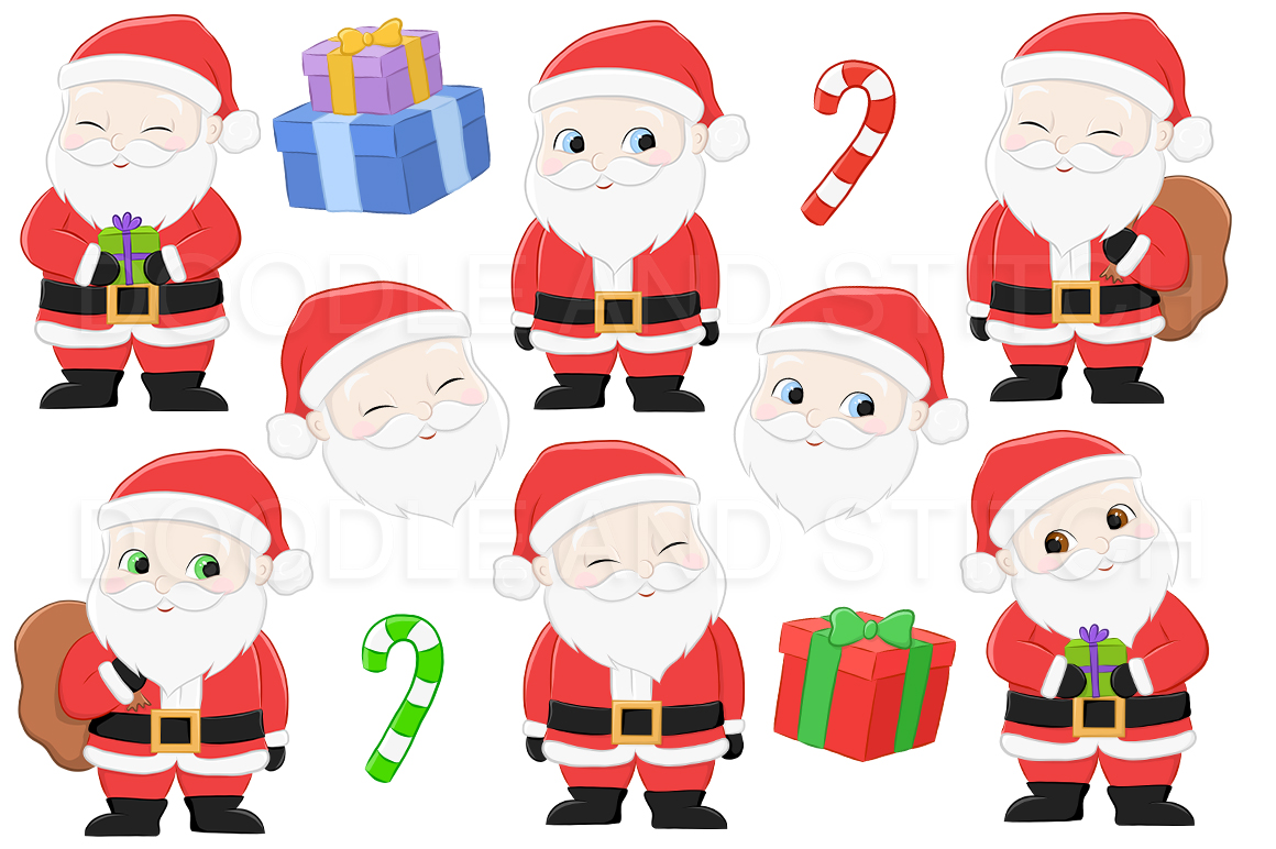 Santa Christmas Clipart Illustrations example image 2
