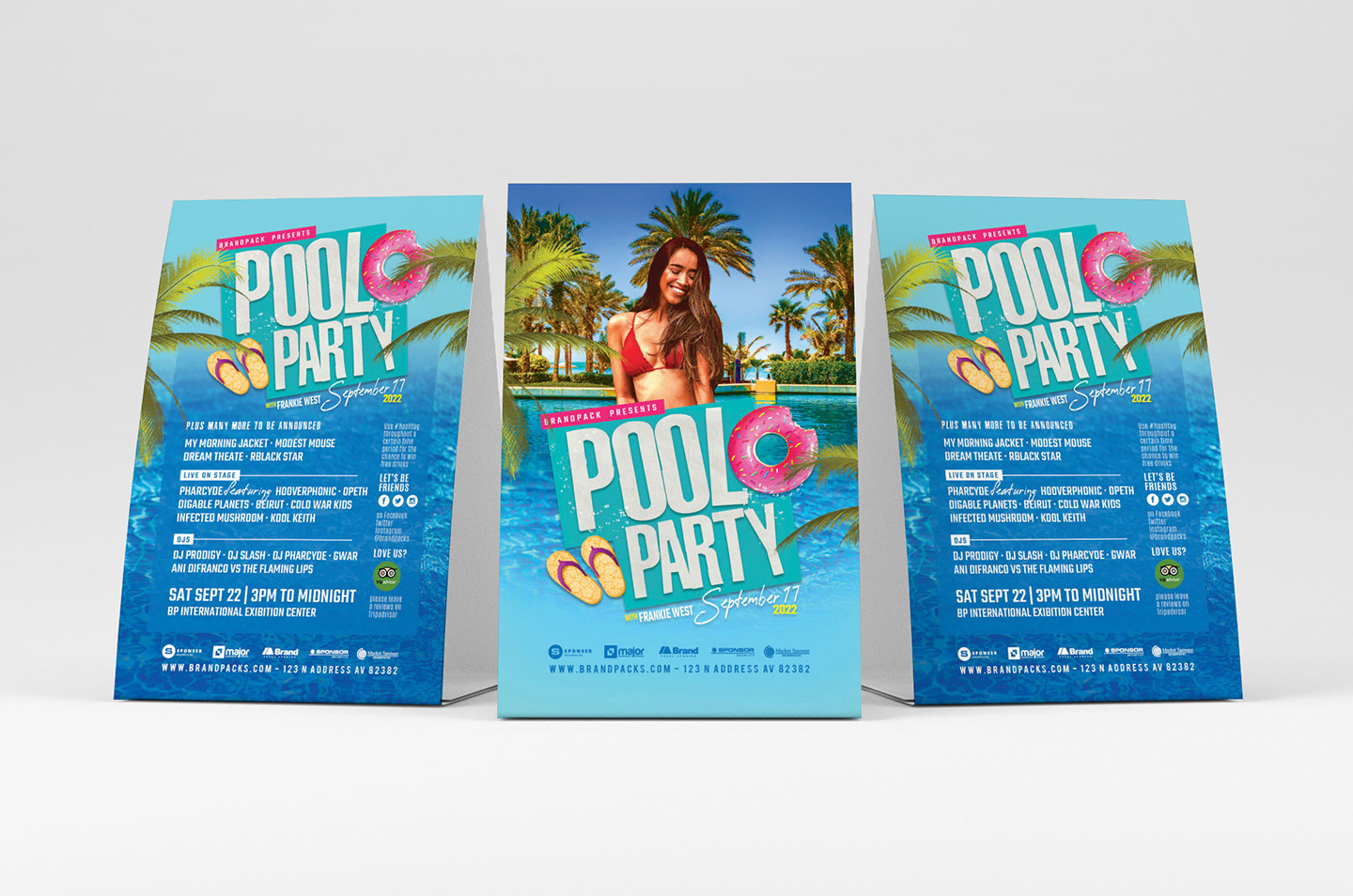 Pool Party Flyer Template example image 3