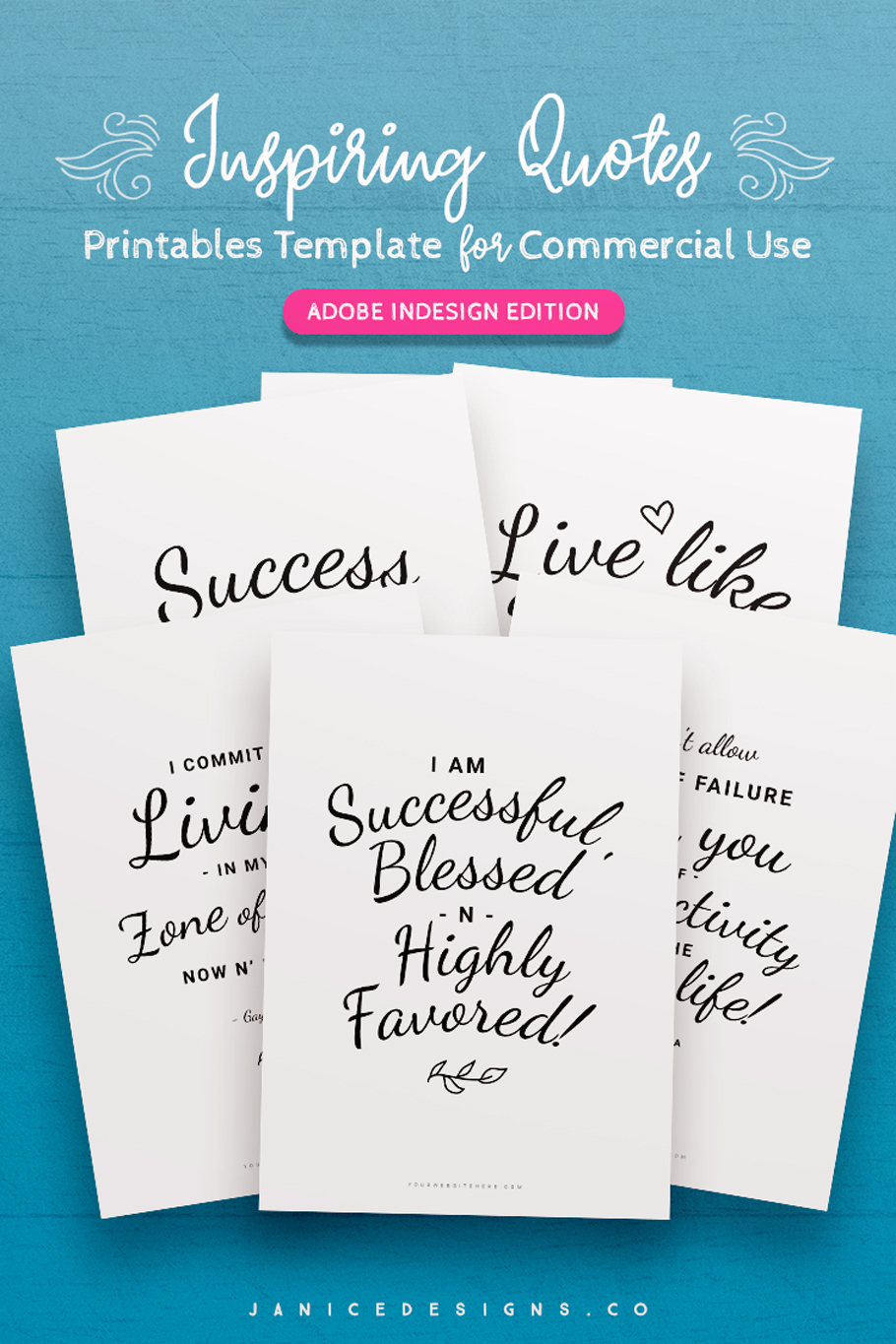 7-in-1 Bundle InDesign Templates for Commercial Use example image 7