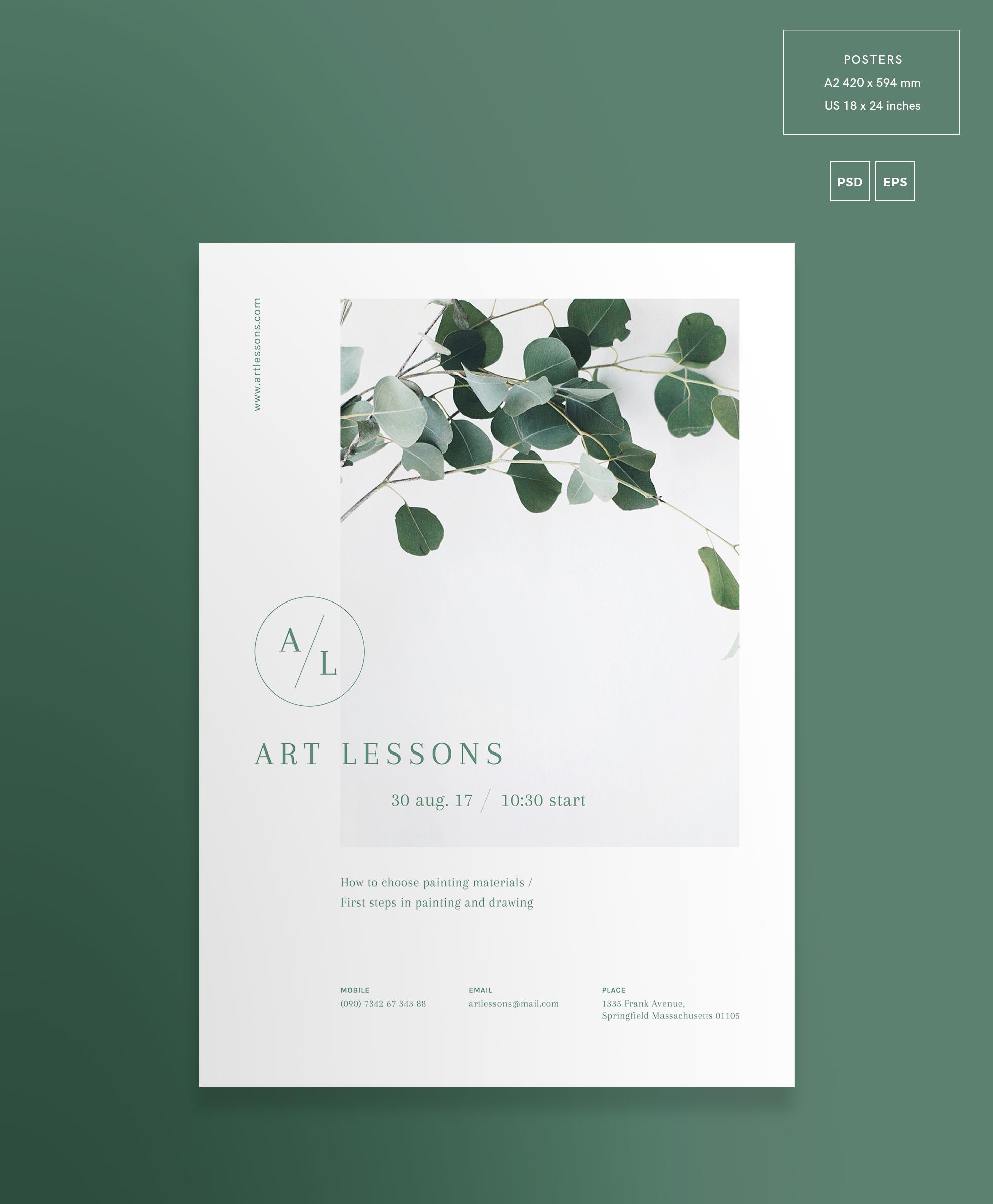 Art Lessons Masterclass Workshop Design Templates Bundle example image 9