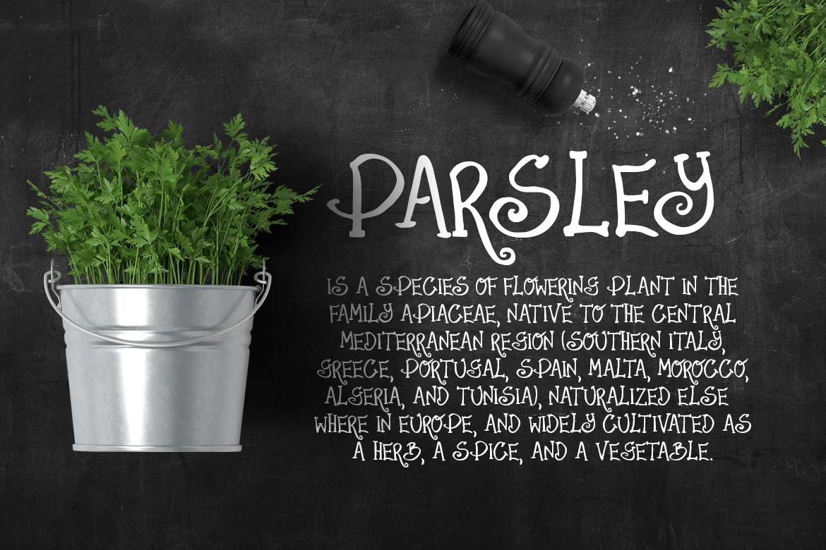Parsley font example image 2