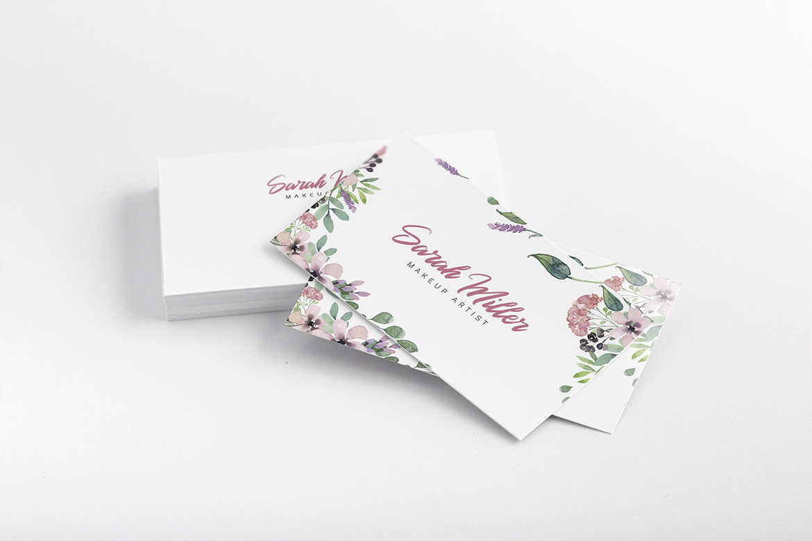 Floral Minimalist Business Card Template example image 10