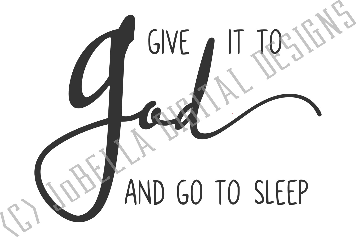 Give It To God SVG, Sublimation & Printable Christian Design example image 3
