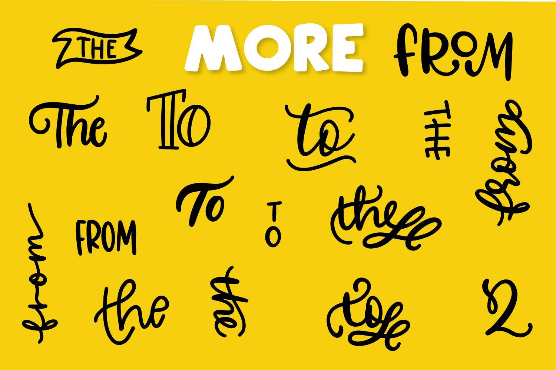 Catchwords & Ampersands - A Dingbat Font example image 5