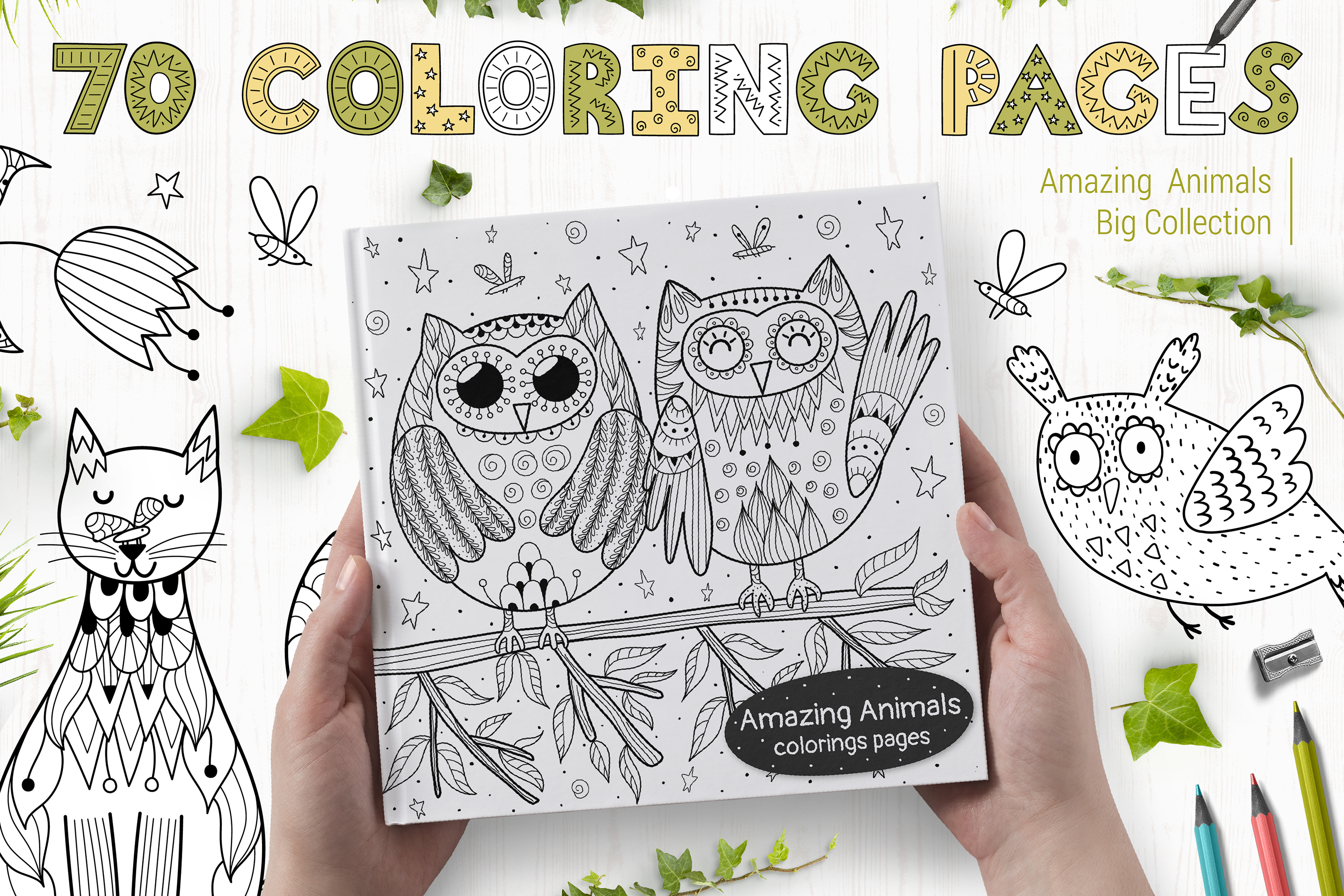 70 Coloring Pages Amazing Animals example image 1