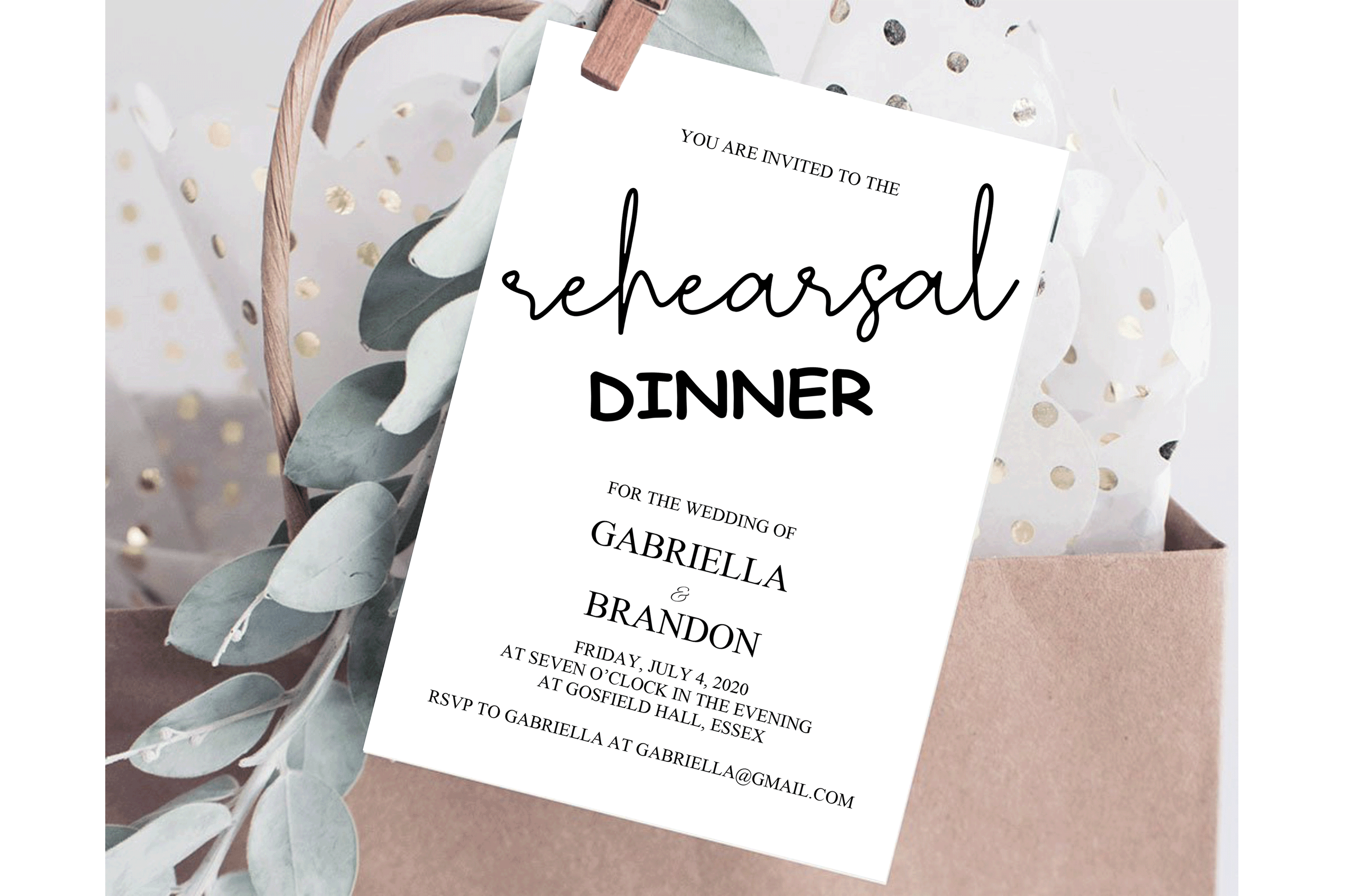 Rustic Rehearsal Dinner Invitation, Invitation Template example image 1