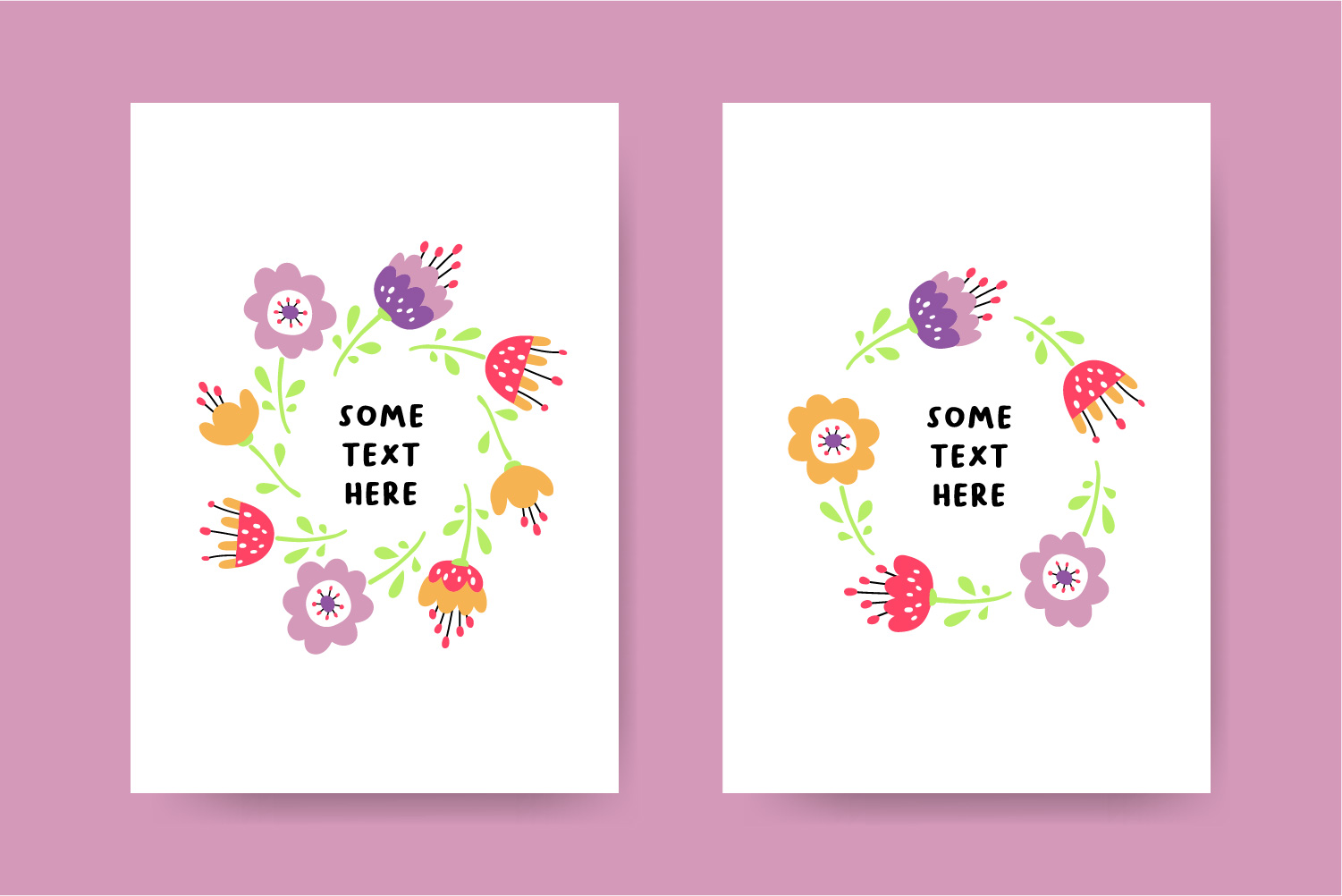 Flower design collection svg example image 4