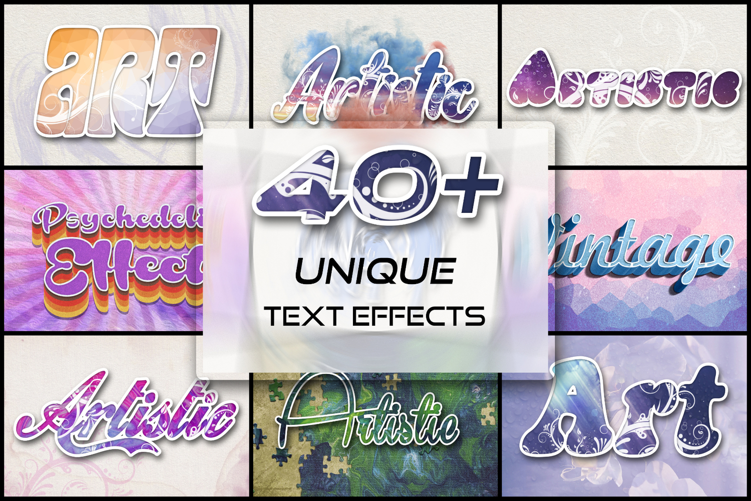 40 Unique Text Effects To Trendify Your Designs example image 1