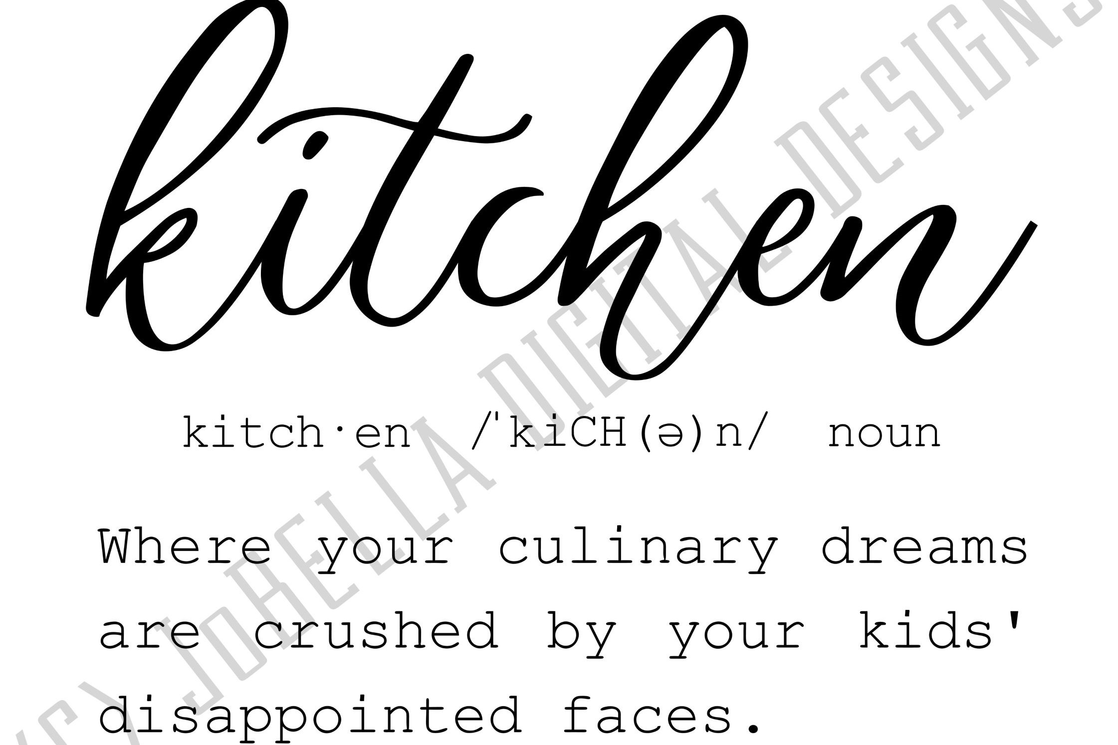 Funny Kitchen Definition SVG, Sublimation PNG & Printable example image 2