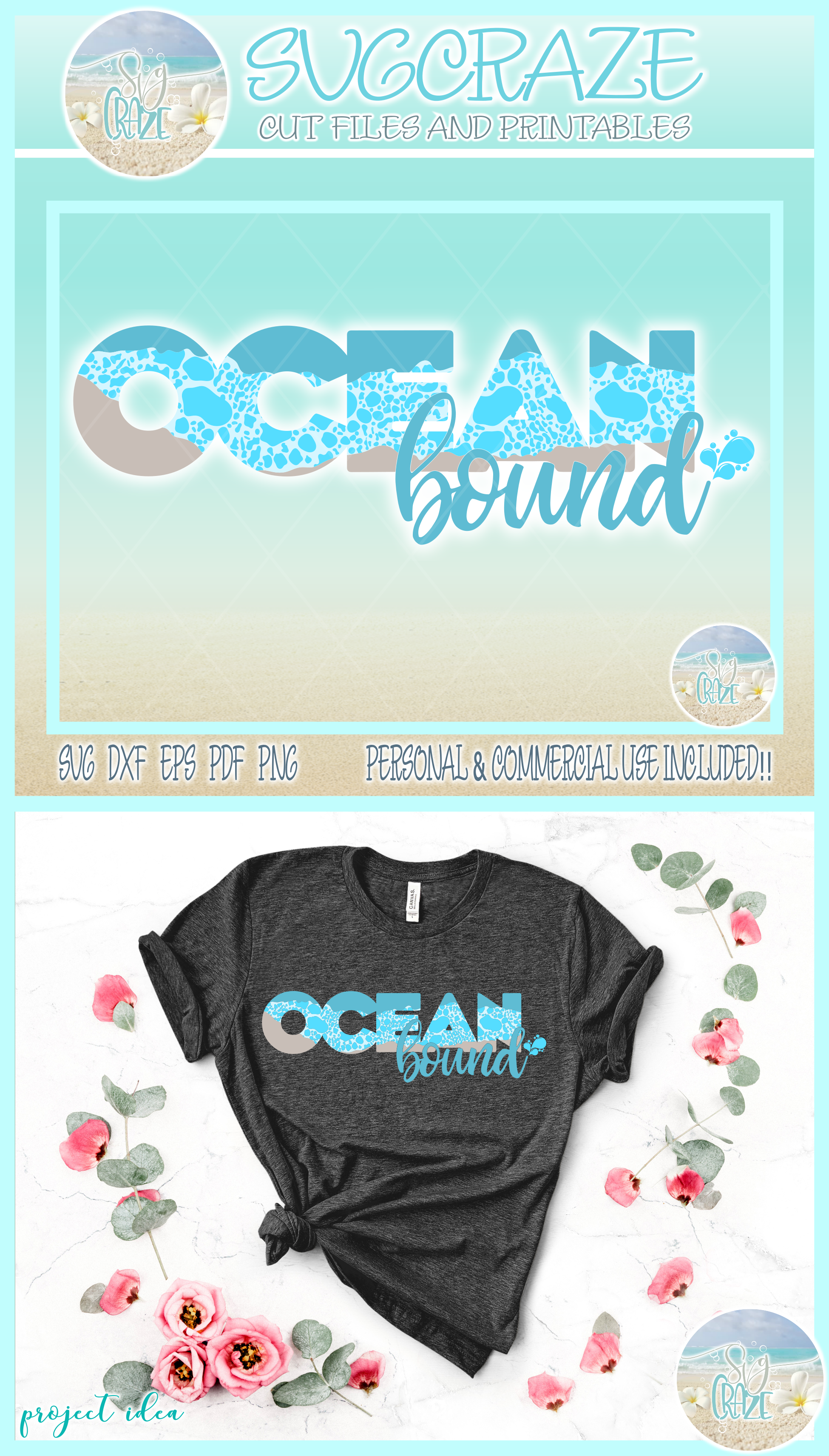 Ocean Bound Svg Dxf Eps Png Pdf Files For Cricut example image 4
