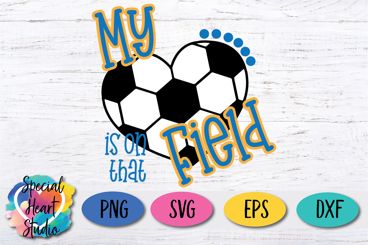 My heart is on that field - SVG - Girls Soccer cut file example image 2