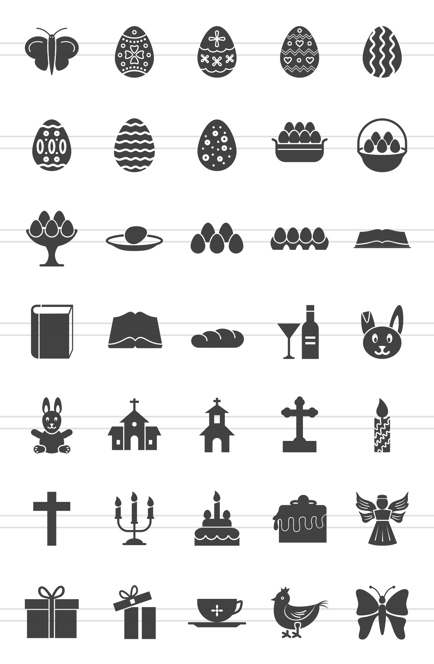 35 Easter Glyph Icons example image 2