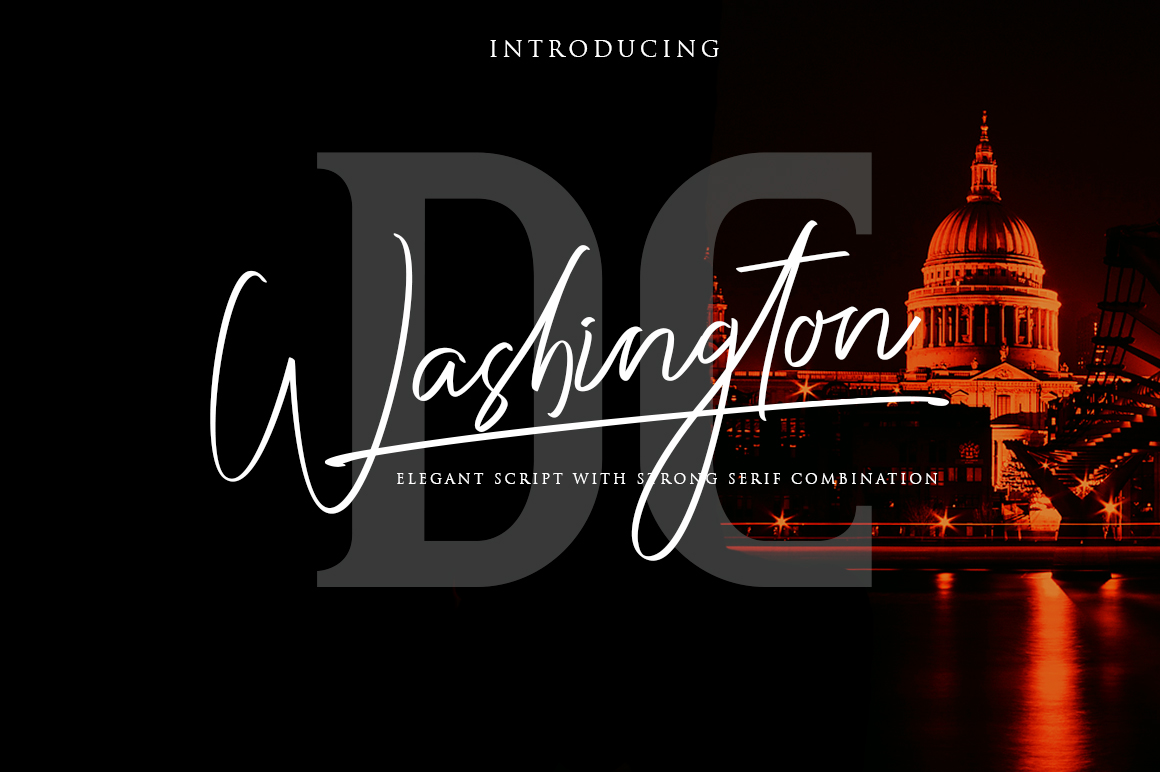 Washington DC / Elegant Font Duo example image 1