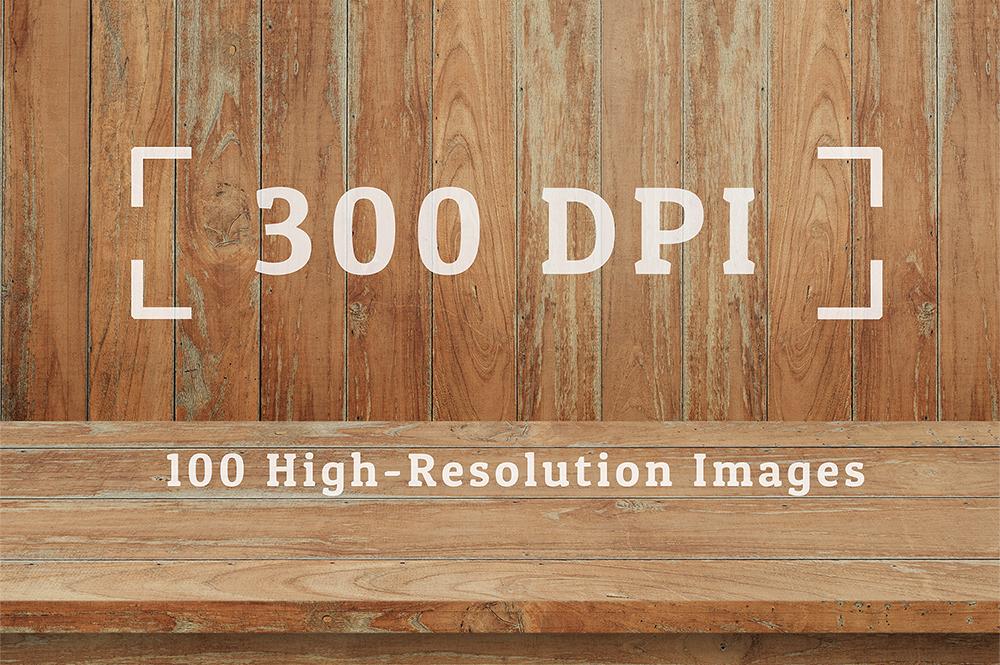 100 Realistic Shelves on Wall. Set 1 example image 3