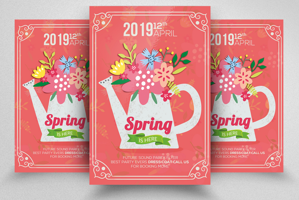 Spring Flyer Psd Template example image 1