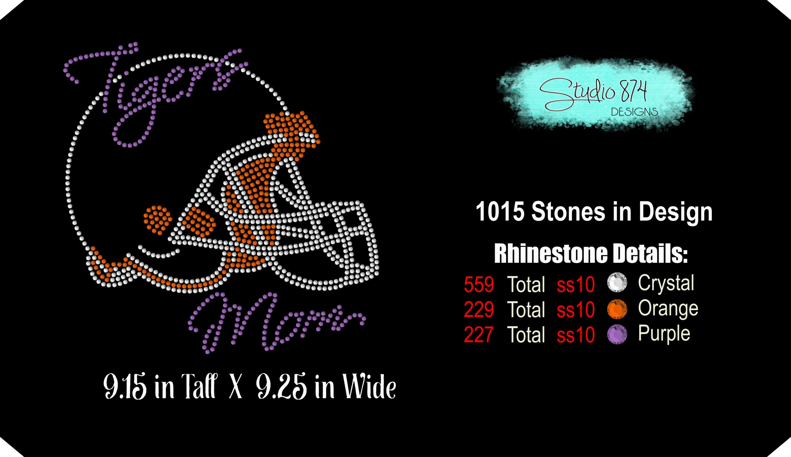 Tigers Football Rhinestone Template Download Mom R1 example image 3