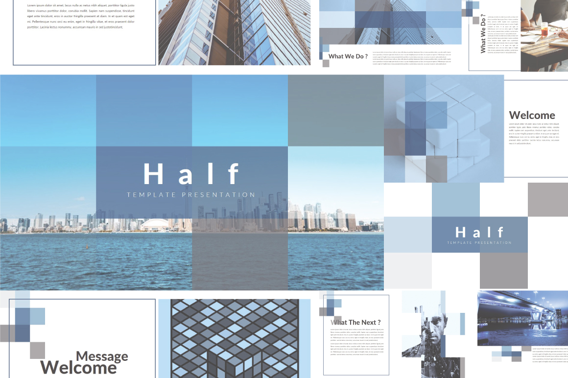 Half Powerpoint Template example image 1
