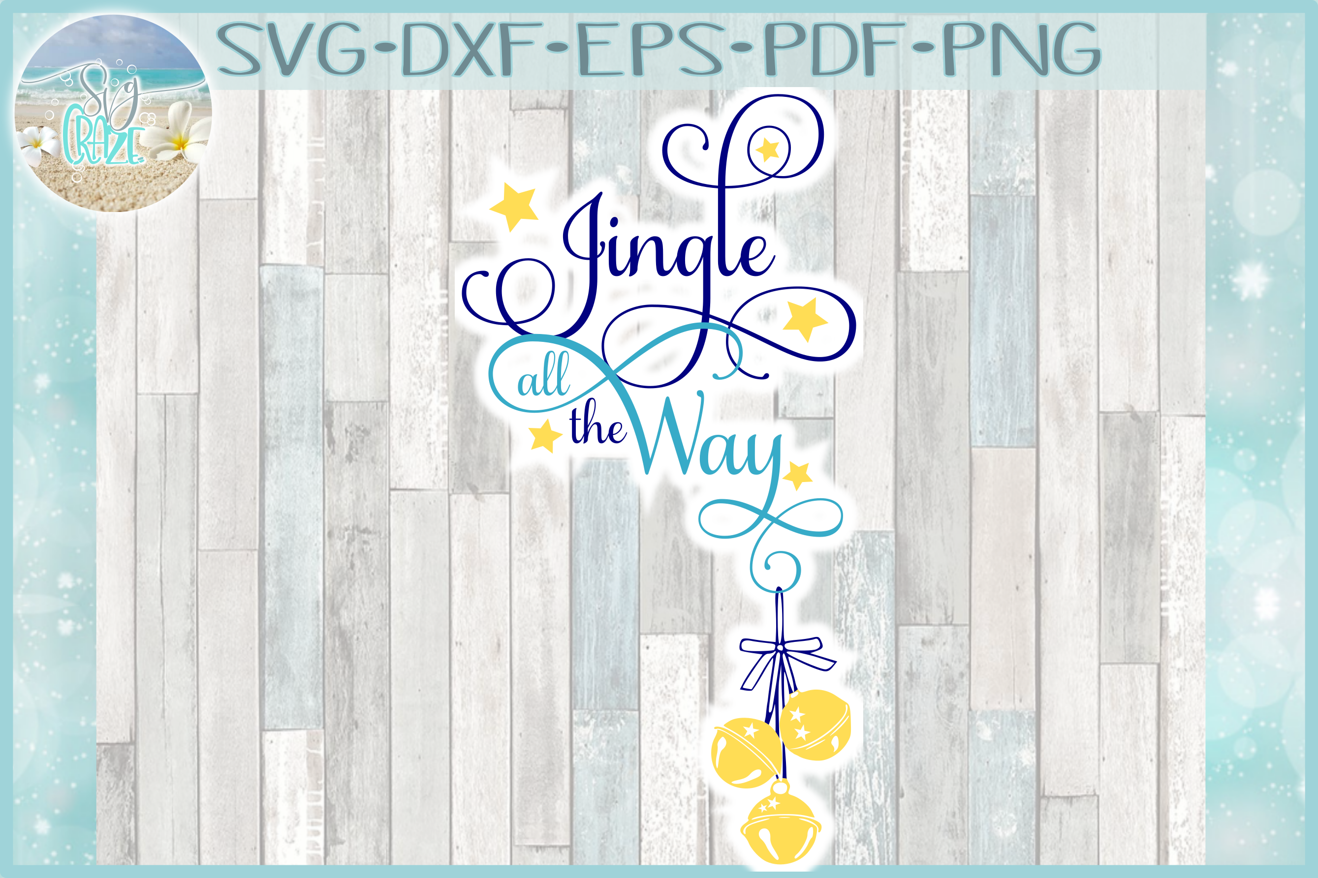 Jingle All The Way Christmas Holiday Quote SVG example image 1