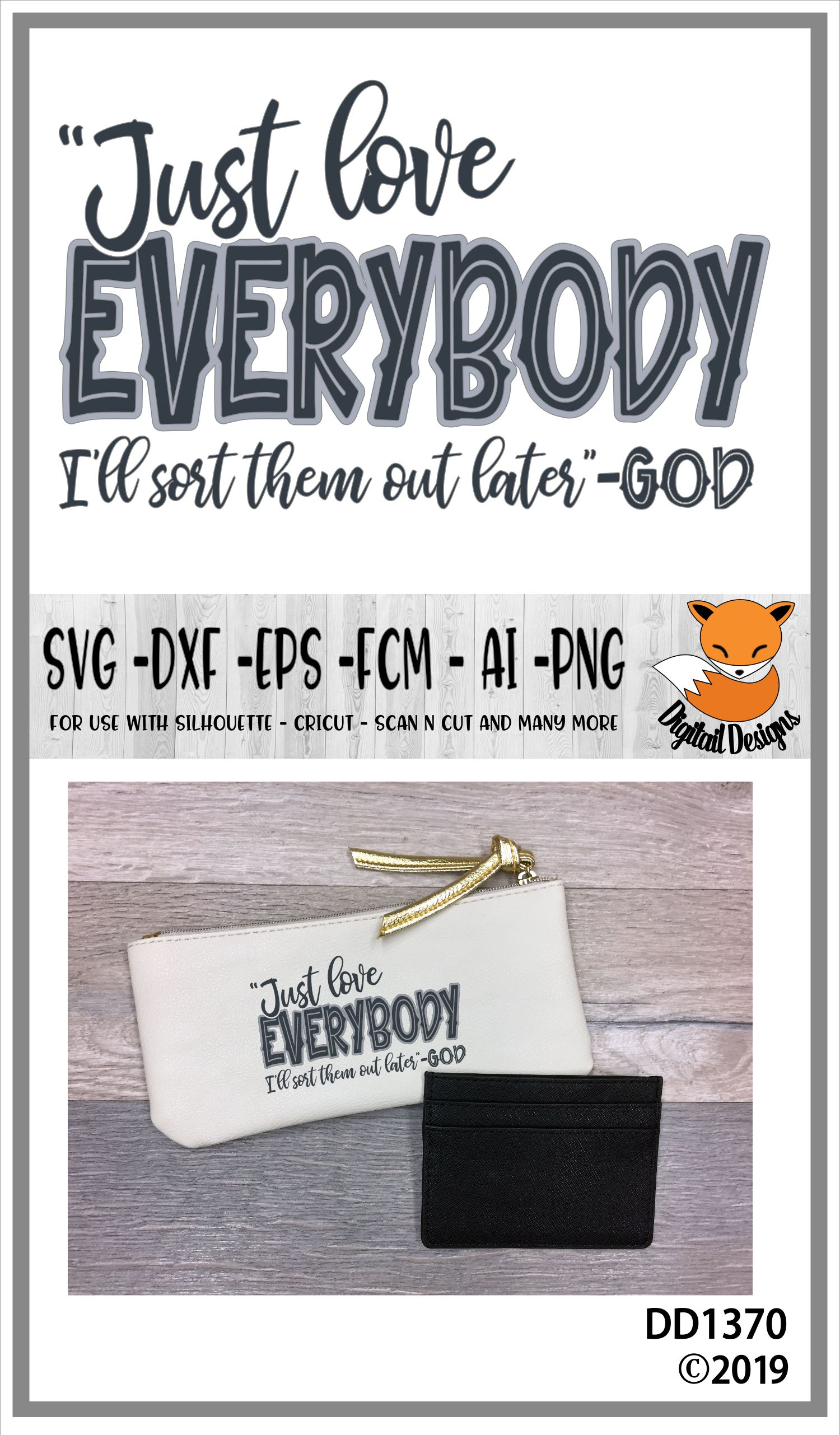 Faith Based Anti Bullying Just Love Everybody SVG example image 2