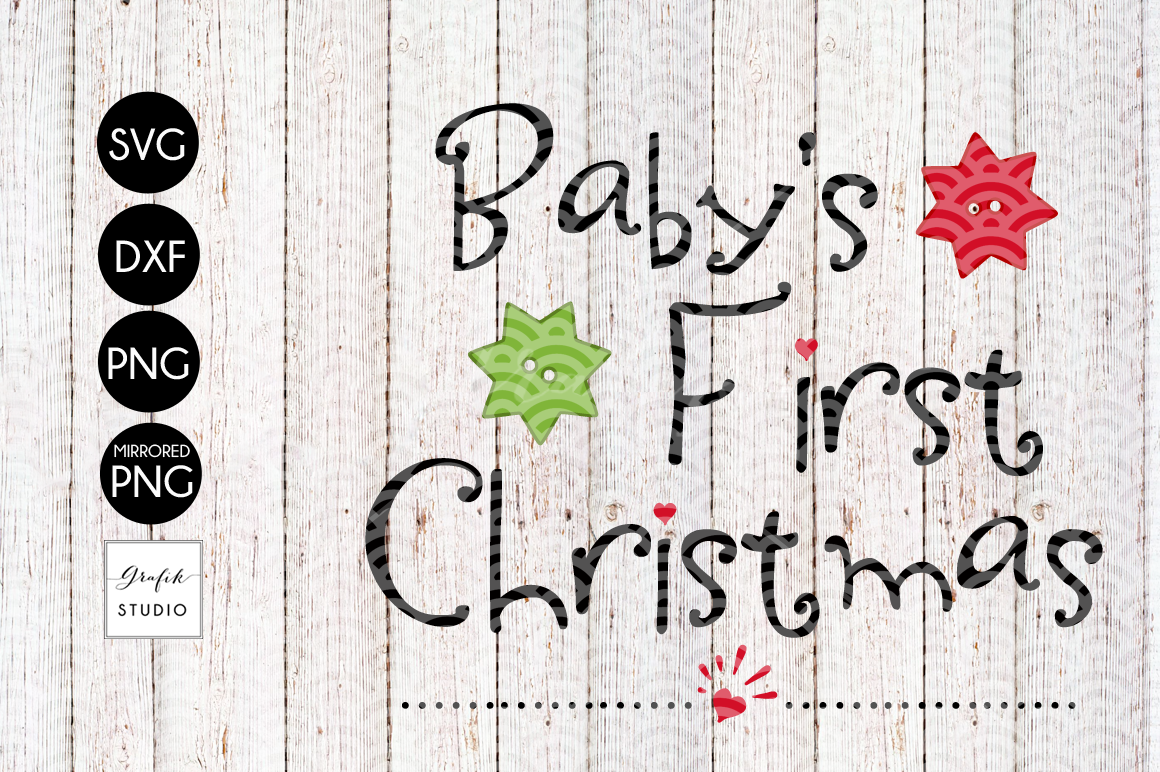 Babys First Christmas SVG File  example image 2