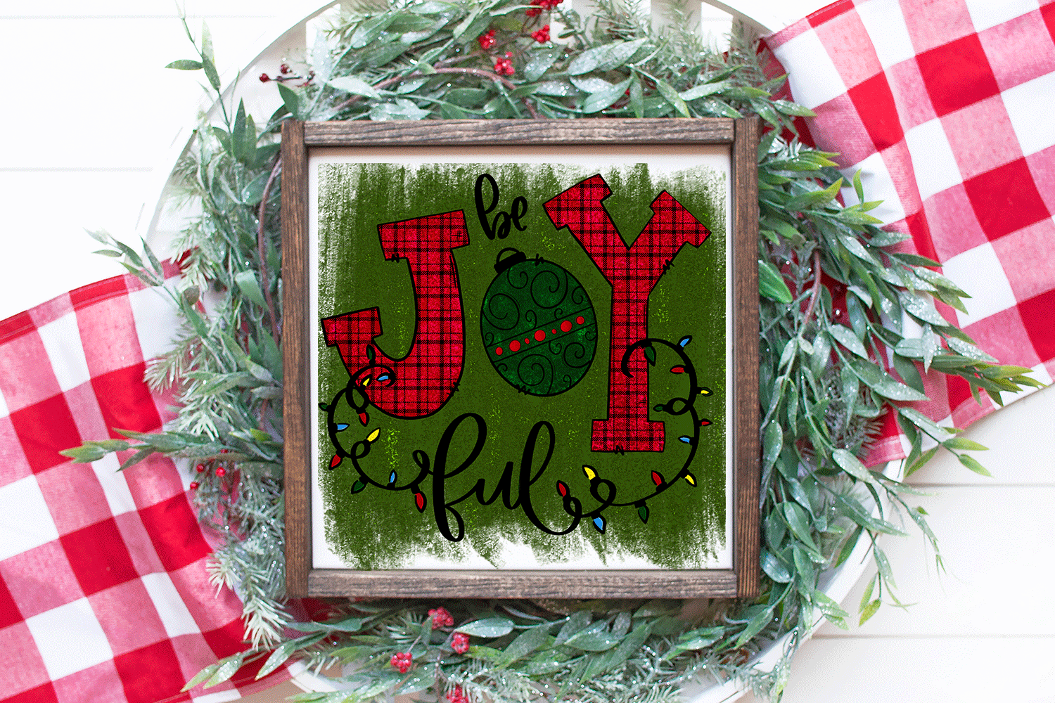 Christmas Sublimation Design - Be Joyful PNG example image 1