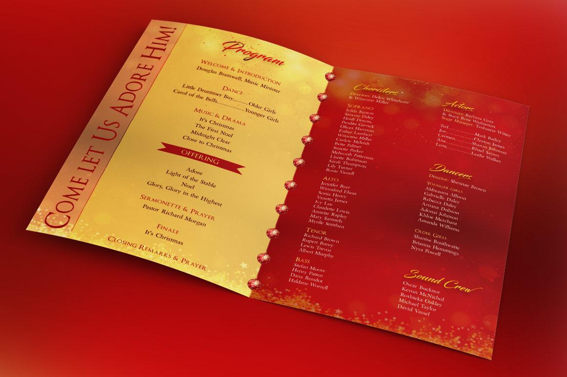 Rejoice Christmas Cantata Program Template example image 2
