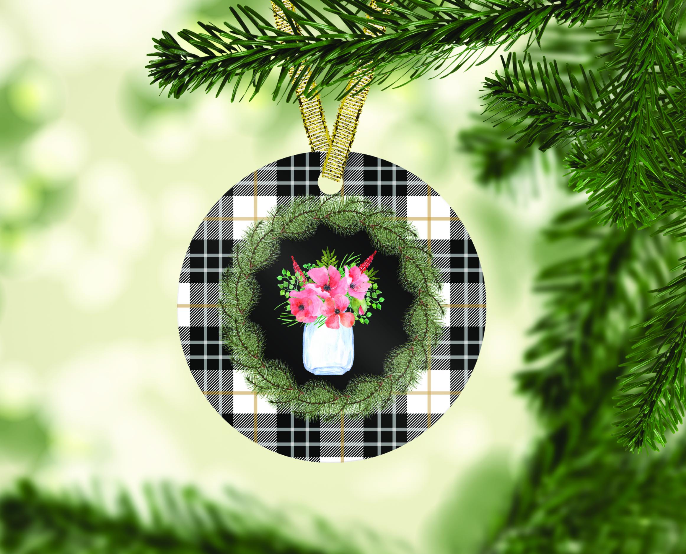 Farmhouse Christmas Ornament Bundle, Perfect for Sublimation example image 7