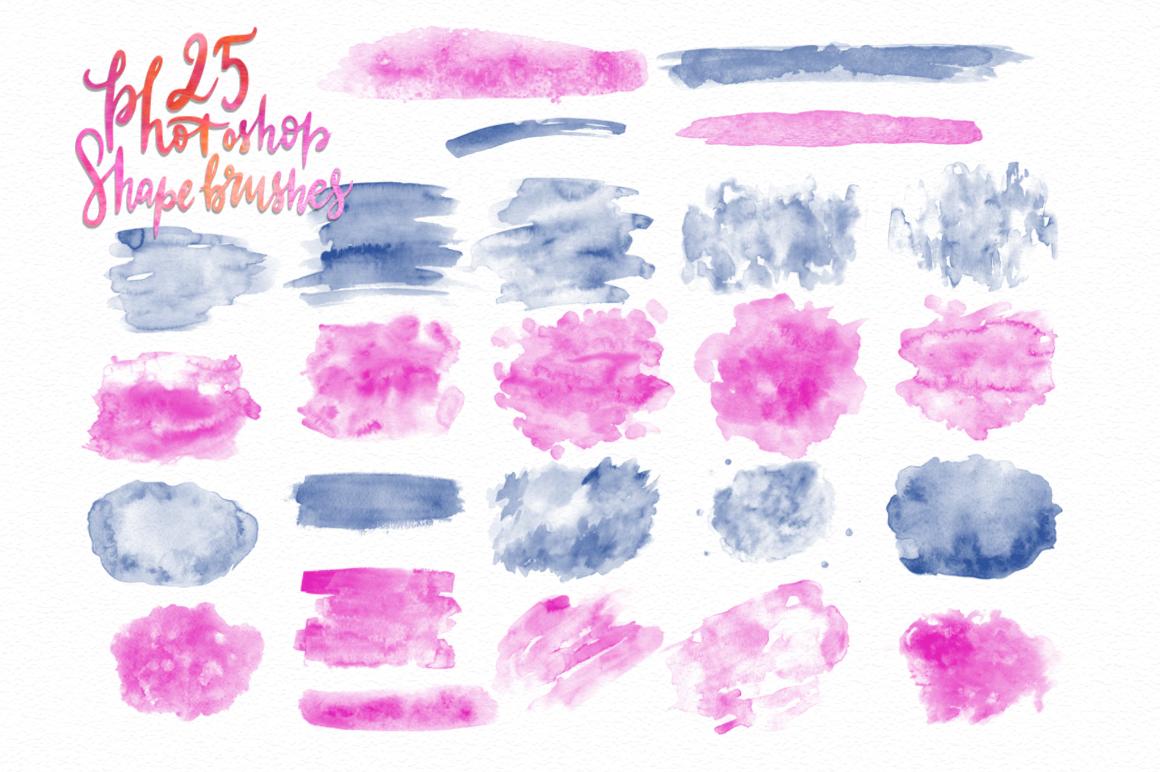 Watercolor world. Photoshop kit. example image 5